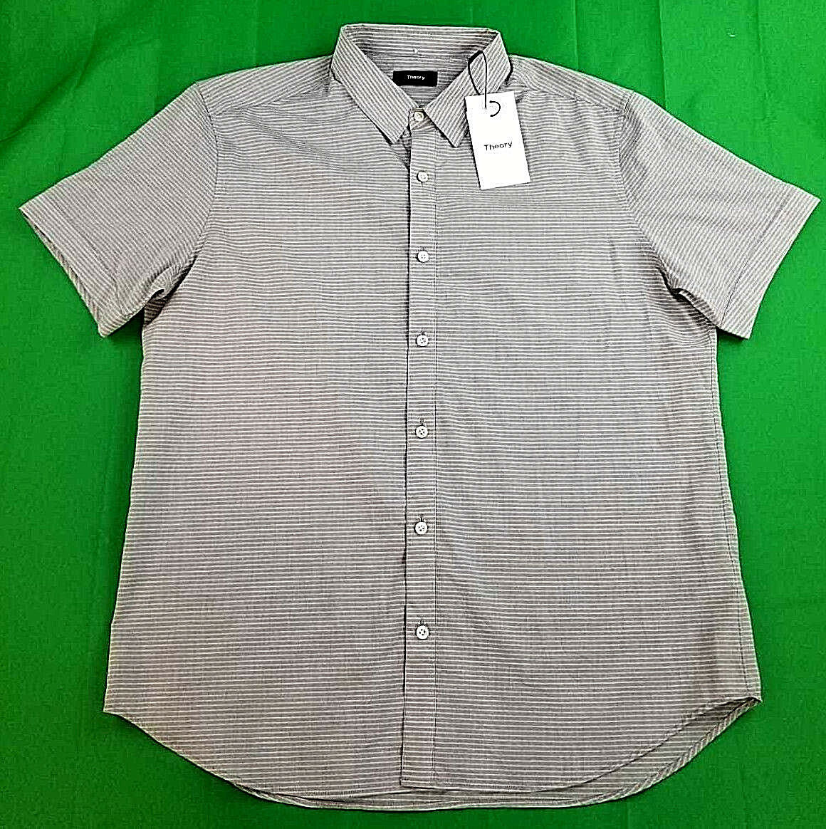 New THEORY men shirt Coppolo Ash Liam I064506R grey XL MSRP
