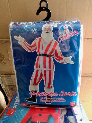 6 x Wholesale Smiffy's Santa Fancy Dress Christmas Costume Stripe Red /& White