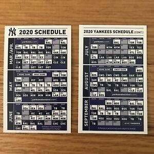 Yankees Home Opener 2020.Details About New York Yankees Sga 2020 Pocket Schedule Wallet Card Calendar Set Of 5 Mlb