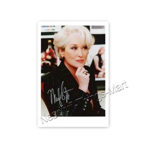  A2 Autogrammfotokarte laminiert Meryl Streep ActressProducer