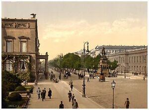 Berlin-Unter-den-Linden-ca-1890-Papier-Leinwand