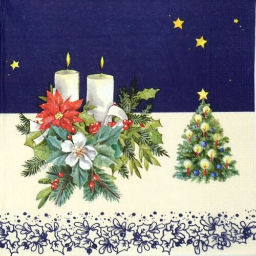 4x Paper Napkins for Decoupage Decopatch Craft Christmas Decoration and Tree