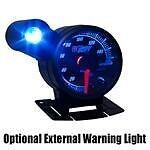 GS-ET05 52mm GlowShift Black Elite 10 Color LED Volt Voltage Gauge