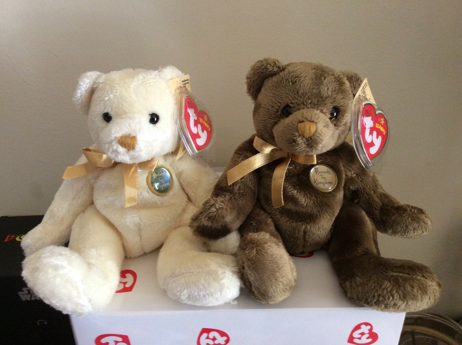 Ty beanie baby bears charles und henry uk exclusives mwmts