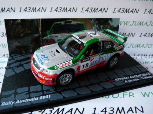 RIT22E voiture 1//43 IXO Altaya Rallye HYUNDAI Accent WRC2 McRae Australie 2001