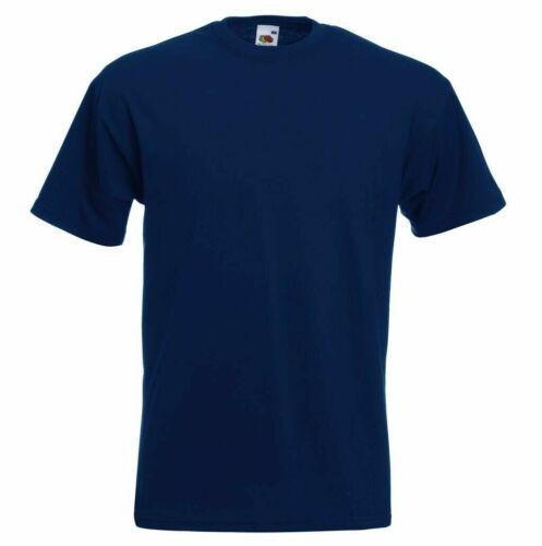 Fruit of the Loom Männer T-Shirt Super Premium T 61-044-0 S 5XL Herren Rundhal