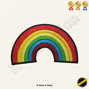 NHS Rainbow Embroidered Iron On/Sew On Patch Badge