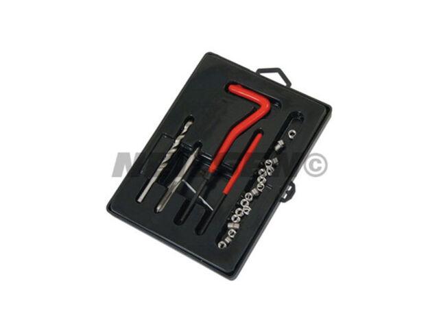 25 Piece Thread Repair Kit M6 x 1.0 x 8.0 mm -  Helicoil coil Twist Drill Tap