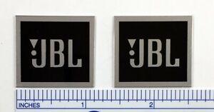 JBL Speaker Badge Logo Emblem Custom Made PAIR L26 L40 L50 L100 (Silver or Gold)