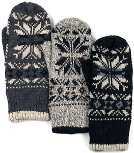 30fa5147bb9c90 Das Bild wird geladen HERREN-Faeustlinge-Fausthandschuhe-NORWEGER-Winter- Handschuhe-FLEECE-FUTTER-