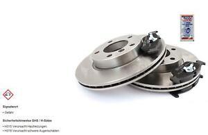 Brake Discs Pads Front Axle for Nissan Primera P10 1.6 2.0 D'
