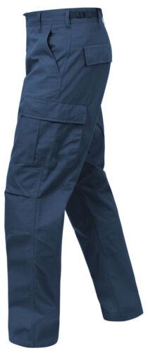 NAVY BLUE  ROTHCO 5929 BDU PANTS 100/%COTTON RIPSTOP CARGO UNIFORM SECURITY S 2X