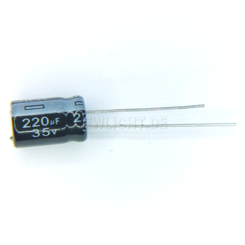 5 x elektrolyt Kondensator 220µF 35V 8x16 Elko 105°C Capacitor 220uF