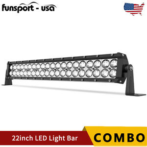 22''INCH 120W LED Light Bar Spot Flood Combo Offroad Driving Truck SUV UTE 4WD