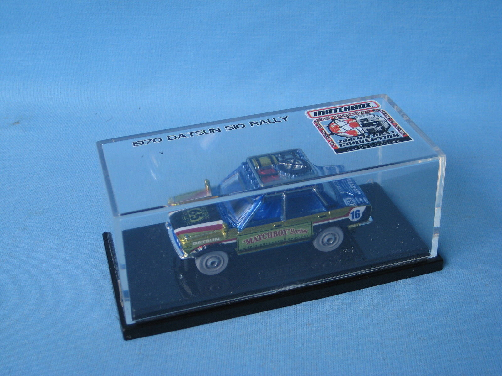Matchbox 1970 Datsun 510 Rally Car 2018 Convention Dealer Model Gathering