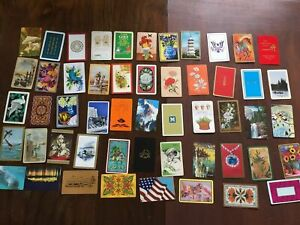 Vintage-Playing-Cards-52-DIFFERENT-Card-Swap-23695-Complete-Deck-Junk-Journal