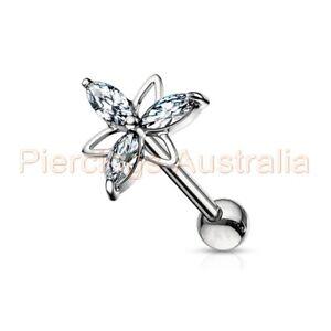 CZ-Triangle-Flower-Cartilage-Tragus-Ear-Piercing-Stud-Barbell-Body-Jewellery