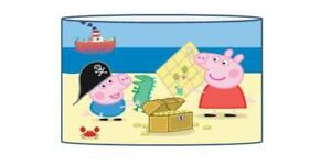 Peppa george pig pirate lampshade ceiling light shade kids free p image is loading peppa george pig pirate lampshade ceiling light shade aloadofball Image collections