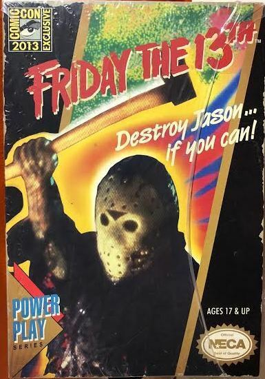 SDCC 2013 NECA Friday The 13th Jason Voorhees Glow In The Dark Power Play NIB