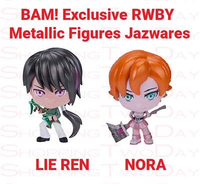 EXCLUSIVE RWBY LIE REN NORA METALLIC FIGURE BY JAZWARES NEW SHIPS FREE BAM