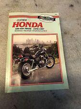 Honda CB 400T Wartungsanleitung  service manual
