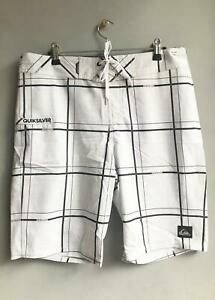 Quiksilver-Mens-Electric-21-034-BOARDSHORT-Boardies-Shorts-Mens-Size-32-White