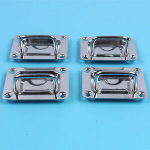 Details about 4XStainless Steel Boat Deck Flush Locker Hatch Pull Lift  Handle For Marine Yacht