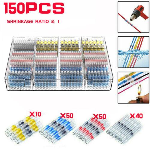 150x3:1 Solder Sleeve Heat Shrink Wire Butt Splice Connector Waterproof Terminal