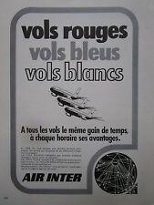 5/1975 PUB COMPAGNIE AERIENNE AIR INTER AIRLINE AIRBUS ORIGINAL FRENCH AD