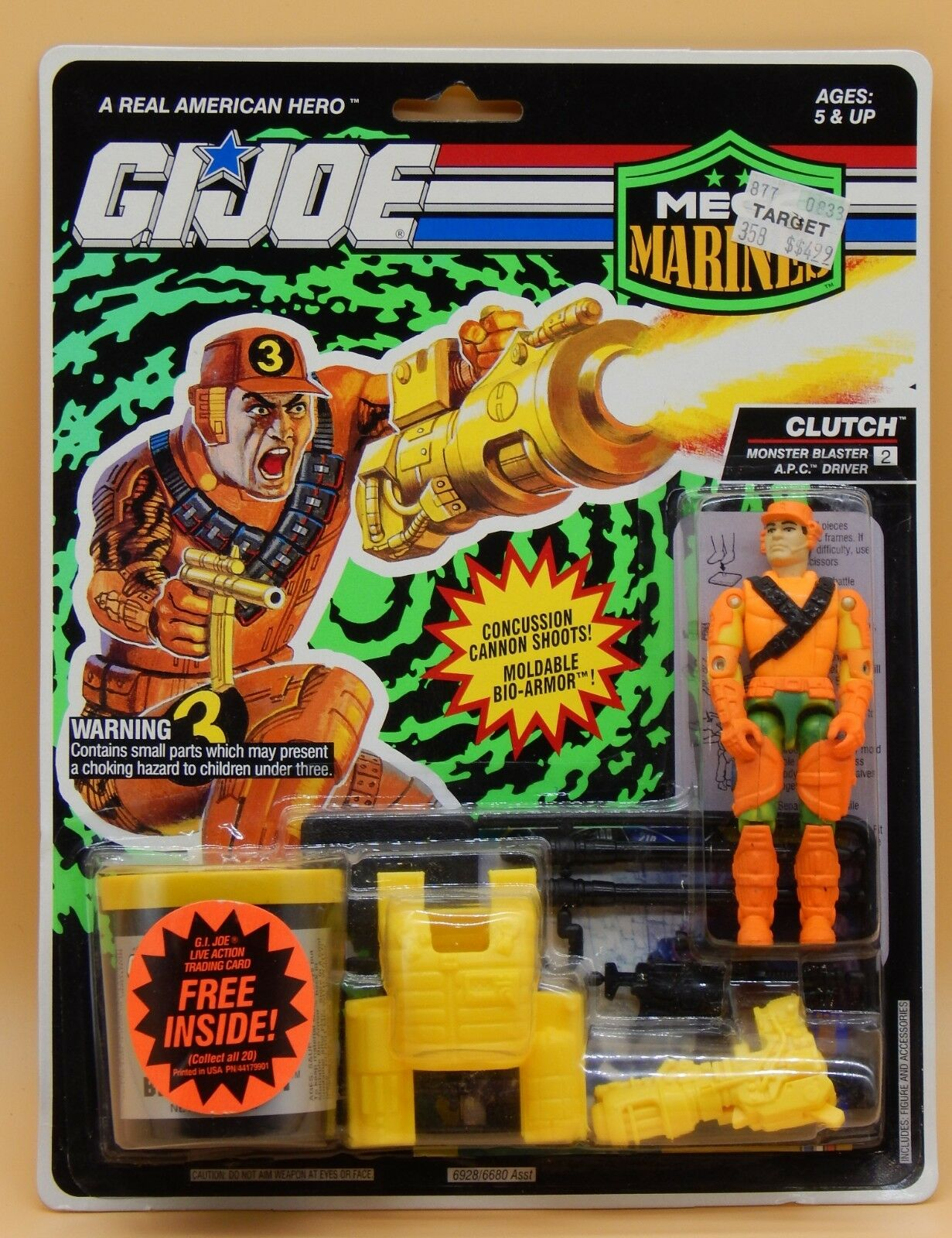 1993 GI Joe CLUTCH  vintage azione cifra MEGA MARINES w  Bio Armor Hasbro MOC     sport dello shopping online