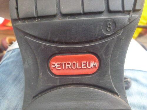 Noir En 8 Bottes Cuir Petroleum Taille Uk wPq1OWIY