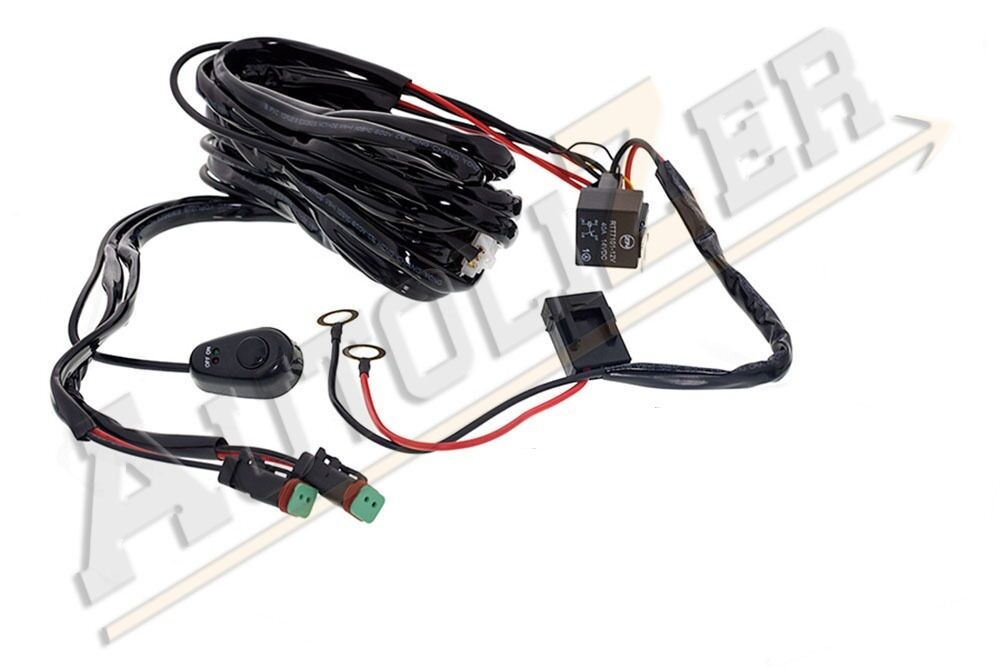 Off Road Led Light Bar On Off Power Switch 40 Amp Relay Wiring Harness Wiring Diagram