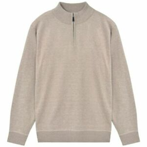 vidaXL-Herentrui-met-Rits-Beige-M-Pullover-Heren-Trui-Truien-Herensweaters