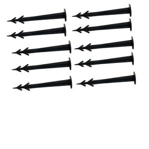 10x Befestigungshaken für Teichschutznetz,Befestigungsanker,befestigen,Erdspieß,