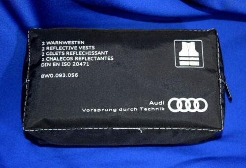 Genuine AUDI Haute Visibilité Avertissement Gilet Hi-Viz tous Audi modèles 8W0093056 x2
