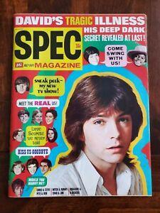 Vintage July 1971 Spec Magazine w/ David Cassidy Covers Nr Mint Dark Shadows