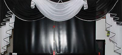 Deko - Gardine, Store, Vorhang in der Farbe schwarz / weiss