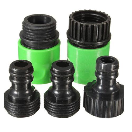 5Pcs Garten Schlauch Schnell Verbinden Plastik Zapfhahn Adapterstecker Set Tools
