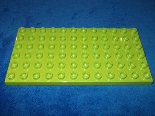 Lego Duplo Ville Zoo Bauernhof Bauplatte 6 X 12er Noppen Hell Grün Platte
