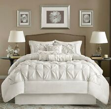 7-Piece Comforter Set Elegant Tufted Contemporary Style Bedding King Size Bed