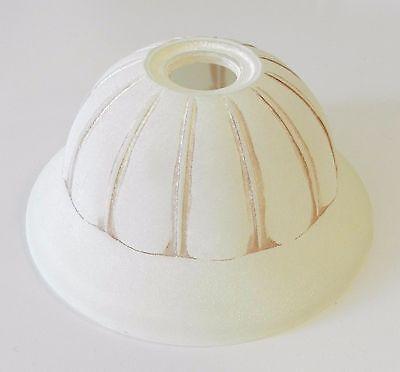 Fiducioso Vetro Ricambio Scavo Per Lampada Applique Lampadari Paralume Satinato Panna D.18 E Avere Una Lunga Vita