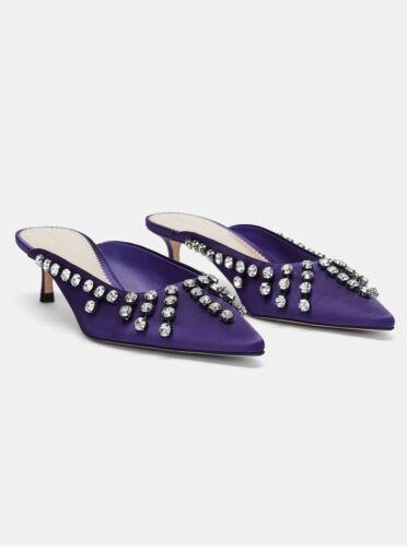 Ciabatte Zara taglia 5 con Bejeweled tacco prZwpqE