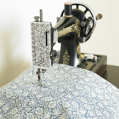 William Morris Mallow Blue Cotton Floral Fabric By Half Metre