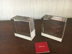 Presse papier / serre livres en cristal de Baccarat (le dernier)