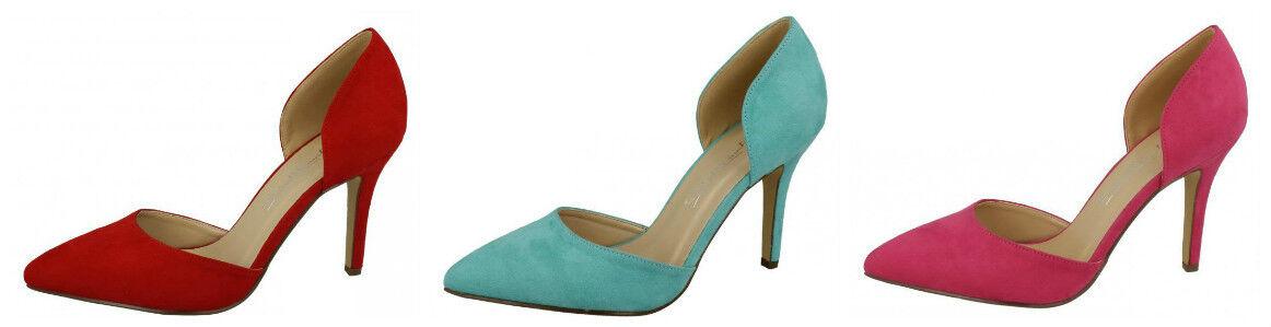 F9914- Ladies 3 Anne Michelle Microfibre Court Shoes 3 Ladies Colours- Great Price 04e5b7