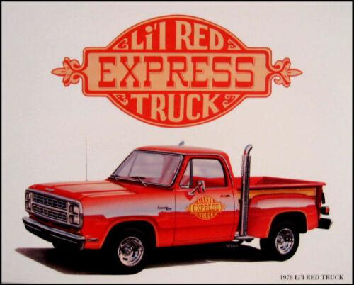 1979 Dodge Li/'l Red Express Truck Print Lithograph 79