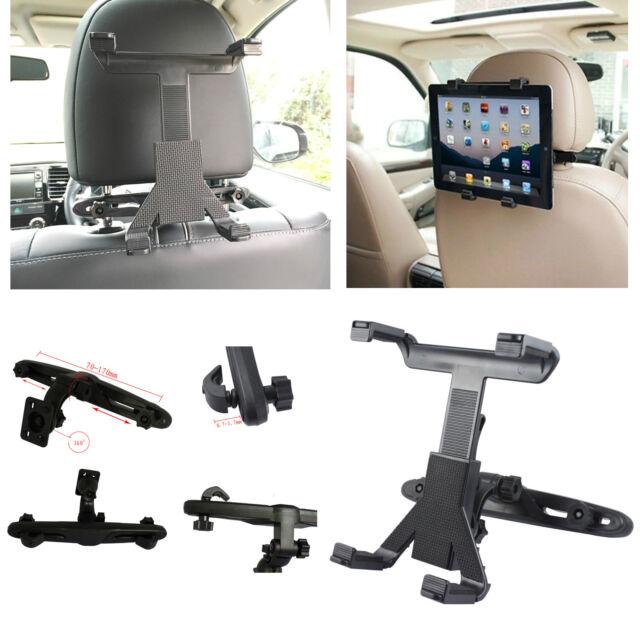 UNIVERSAL IN CAR BACK SEAT HEADREST IPAD TABLET HOLDER MOUNT CRADLE SAFETY LOCK