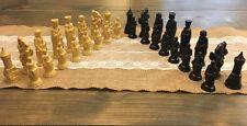 Set 32 Vintage ANRI Chess Piece Board Lowe Camelot Medieval Plastic Renaissance