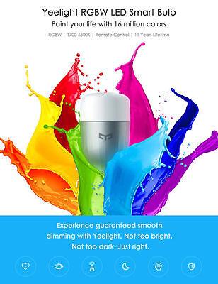 Xiaomi Yeelight RGBW E27 Smart LED Bulb  SILVER