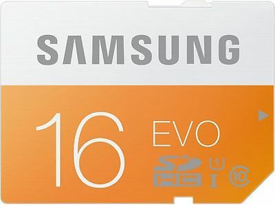 16GB Samsung EVO SDHC SD 48MB/s CLASS 10 +SD Adapter for Digital Cameras
